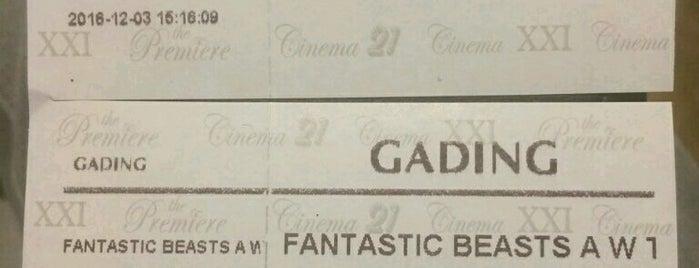 Gading XXI is one of Enjoy Jakarta 2012 #4sqCities.
