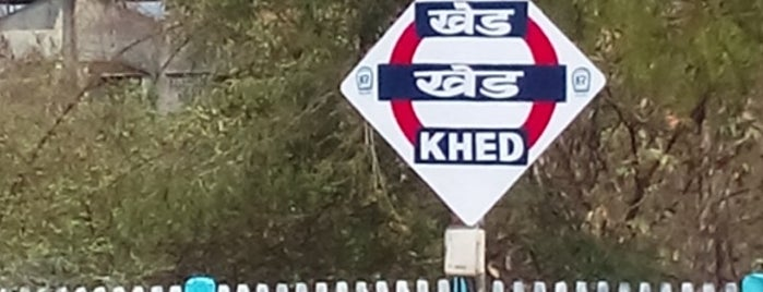 Khed Railway Station is one of Train station.
