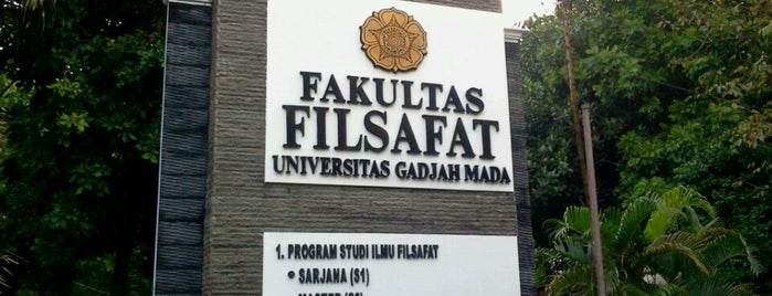 Fakultas Filsafat is one of UGM.