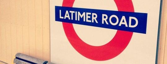 Latimer Road London Underground Station is one of Tube Challenge.