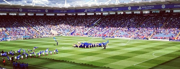 King Power Stadium is one of Football grounds visited.