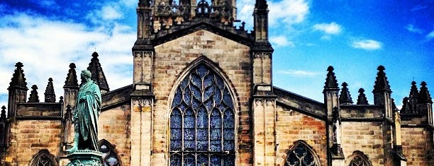 St. Giles' Cathedral is one of Edinburgh.