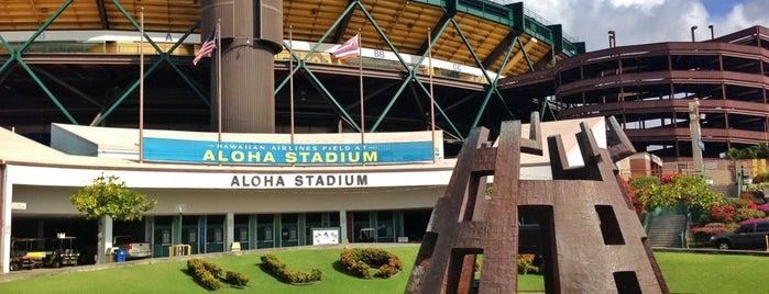 Aloha Stadium is one of Tweeple Watching.