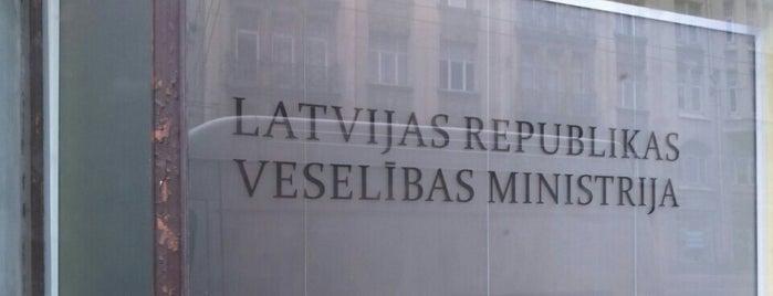 Veselības Ministrija is one of Valsts iestādes/institūcijas.