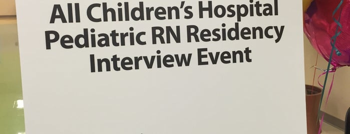 Outpatient Care Center - All Children's Hospital is one of routine.