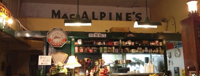 "MacAlpine's Soda Fountain is one of Featured on PBS' ""Check, Please! Arizona""."