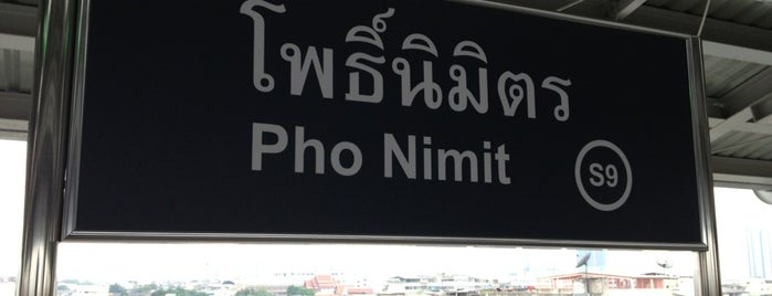 BTS Pho Nimit (S9) is one of BTS Silom Line.