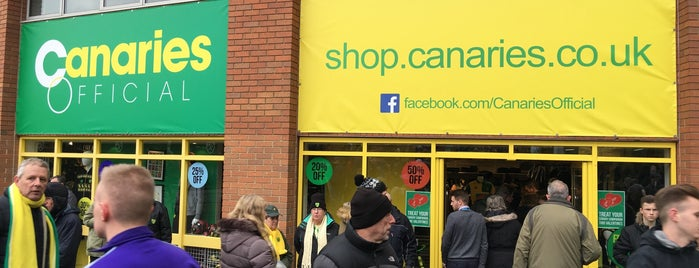 Canary Store @ Carrow Road is one of Norwich City FC Venues.
