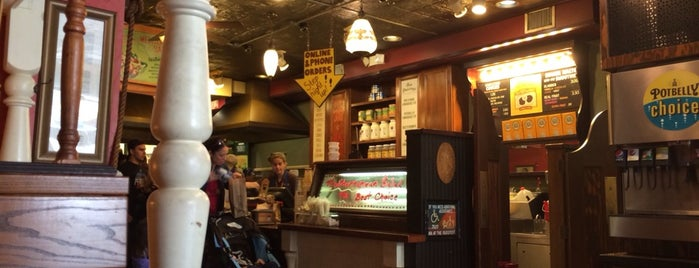 Potbelly Sandwich Shop is one of places to dine.