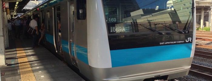 鶴見駅 (Tsurumi Sta.) is one of JR.