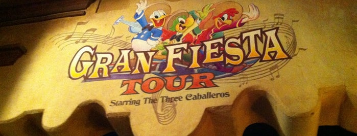 Gran Fiesta Tour Starring the Three Caballeros is one of Epcot World Showcase.