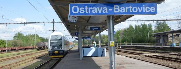 Železniční stanice Ostrava-Bartovice is one of Linka S1/R1 ODIS Opava východ - Český Těšín.