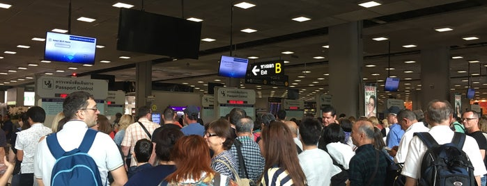 Thai Immigration: Arrival Zone (East) is one of TH-Airport-BKK-1.