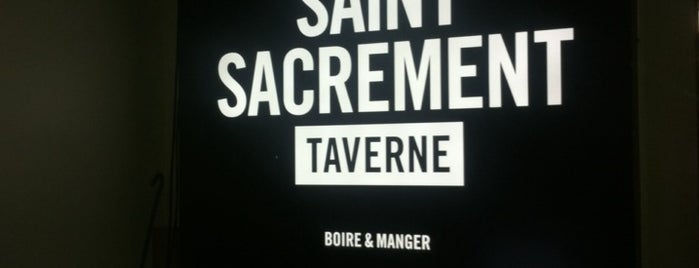 Taverne Saint-Sacrement is one of Montreal City Guide.