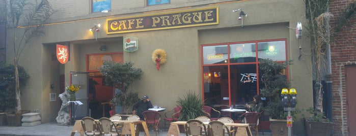 Cafe Prague is one of places to go.