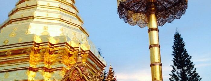 วัดพระธาตุดอยสุเทพราชวรวิหาร (Wat Phrathat Doi Suthep) is one of Chaing Mai (เชียงใหม่).