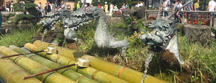 忍野八海 神の水 is one of Park.