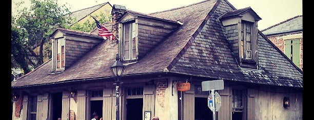 Lafitte's Blacksmith Shop is one of Coolest places to have a drink.