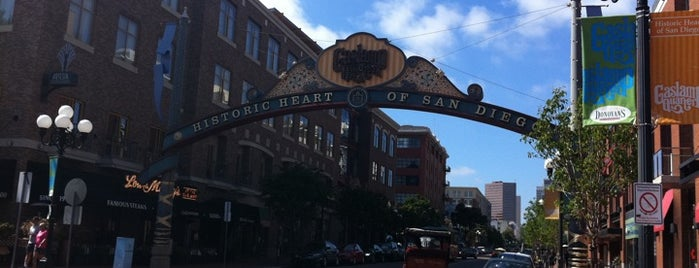 The Gaslamp Quarter is one of Out and About in San Diego.