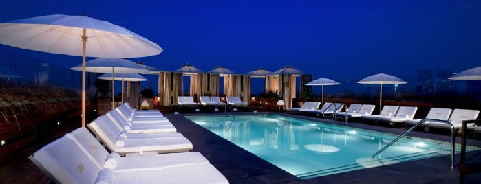 Thompson Beverly Hills Rooftop Bar (ABH) is one of Best Rooftop Bars in Los Angeles.