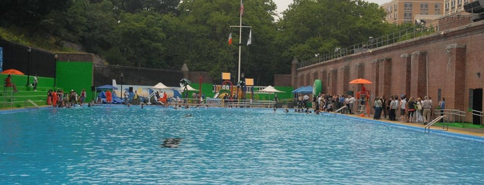 Jackie Robinson Pool is one of NYC Parks' Free Outdoor Swimming Pools.
