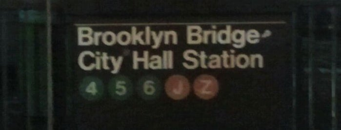 "MTA Subway - Brooklyn Bridge/City Hall/Chambers St (J/Z/4/5/6) is one of ""Be Robin Hood #121212 Concert"" @ New York!."