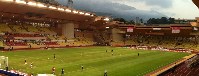 Stade Louis II is one of Stadiums.