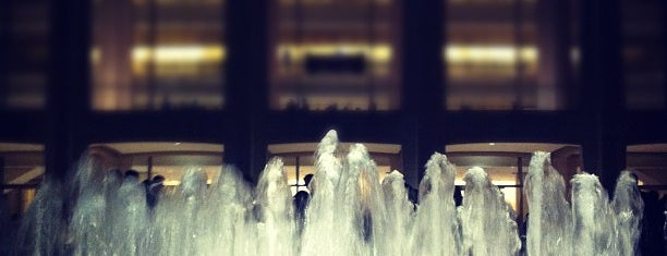 Lincoln Center for the Performing Arts is one of Sophie's Favorite Holiday Spots in NYC.