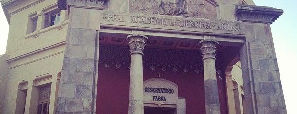 Observatori Fabra is one of Museus i monuments de Barcelona (gratis, o quasi).