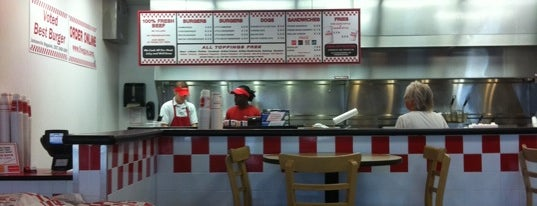Five Guys is one of Beach Restaurants.