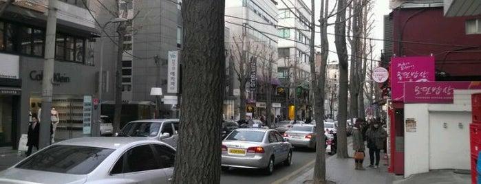 가로수길 (Garosu-gil) is one of Seoul City Badge - Lucky Seoul.