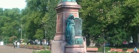 Runebergin patsas is one of Patsaat ja muistomerkit.