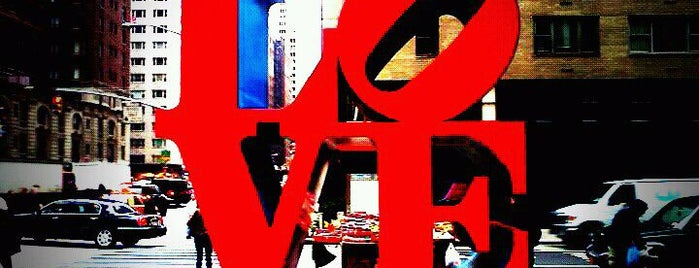 LOVE Sculpture by Robert Indiana is one of NYC I see.