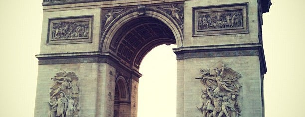 Arc de Triomphe is one of Paris City Badge - La Ville-Lumière.