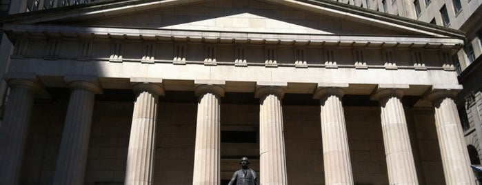 Federal Hall National Memorial is one of Architecture - Great architectural experiences NYC.