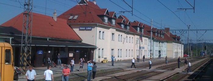 Železniční stanice Horní Lideč is one of Železniční stanice ČR: H (3/14).