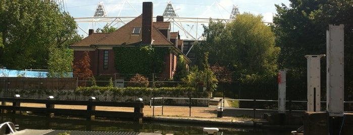 Old Ford Lock is one of Guardian Olympic park walking tour.