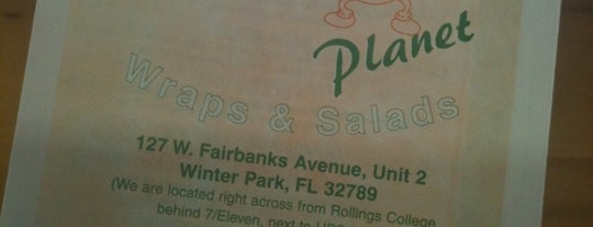 Wrap Planet is one of Vegetarian Friendly Food in Orlando.