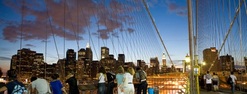 Brooklyn Bridge is one of New York.
