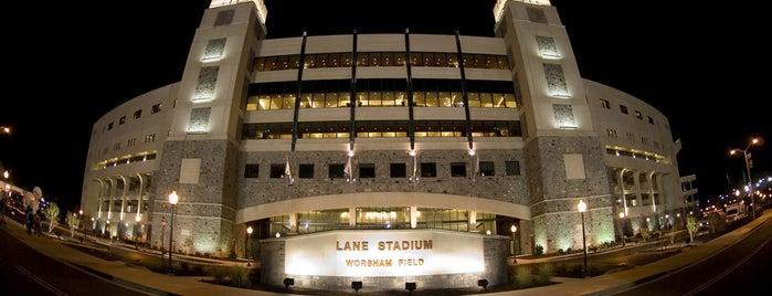 Lane Stadium/Worsham Field is one of Stadiums.