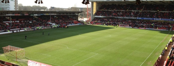 The City Ground is one of Football grounds visited.