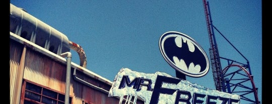 Mr. Freeze Reverse Blast is one of Must-visit Theme Parks in Arlington.