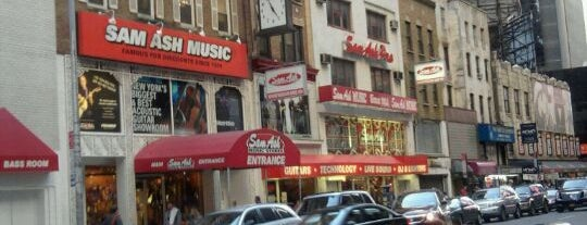 Sam Ash Music is one of NYC.