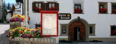 Chesa Veglia is one of Ritzy Glitzy St. Moritz.
