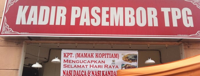 Kadir Pasembor Taiping is one of Top 10 restaurants when money is no object.