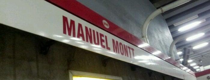 Metro Manuel Montt is one of Estaciones del Metro de Santiago.