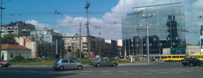 Slavija is one of Belgrade.