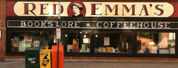 Red Emma's Bookstore Coffeehouse is one of Art, Books, Music, And More.