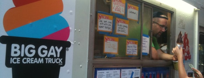 The Big Gay Ice Cream Truck is one of NYC Food Trucks.