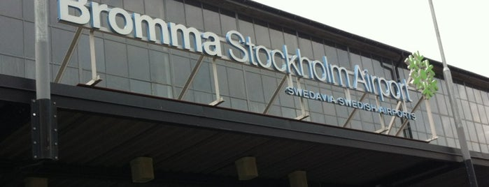 Stockholm-Bromma Airport (BMA) is one of Airports - Sweden.